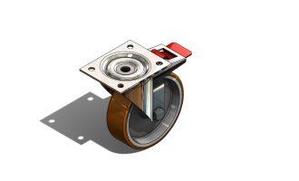SolidWorks模型分享:推车车轮模型 免费下载